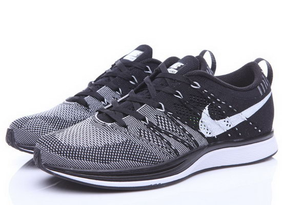 Mens & Womens (unisex) Nike Flyknit Trainer Black Grey Low Price